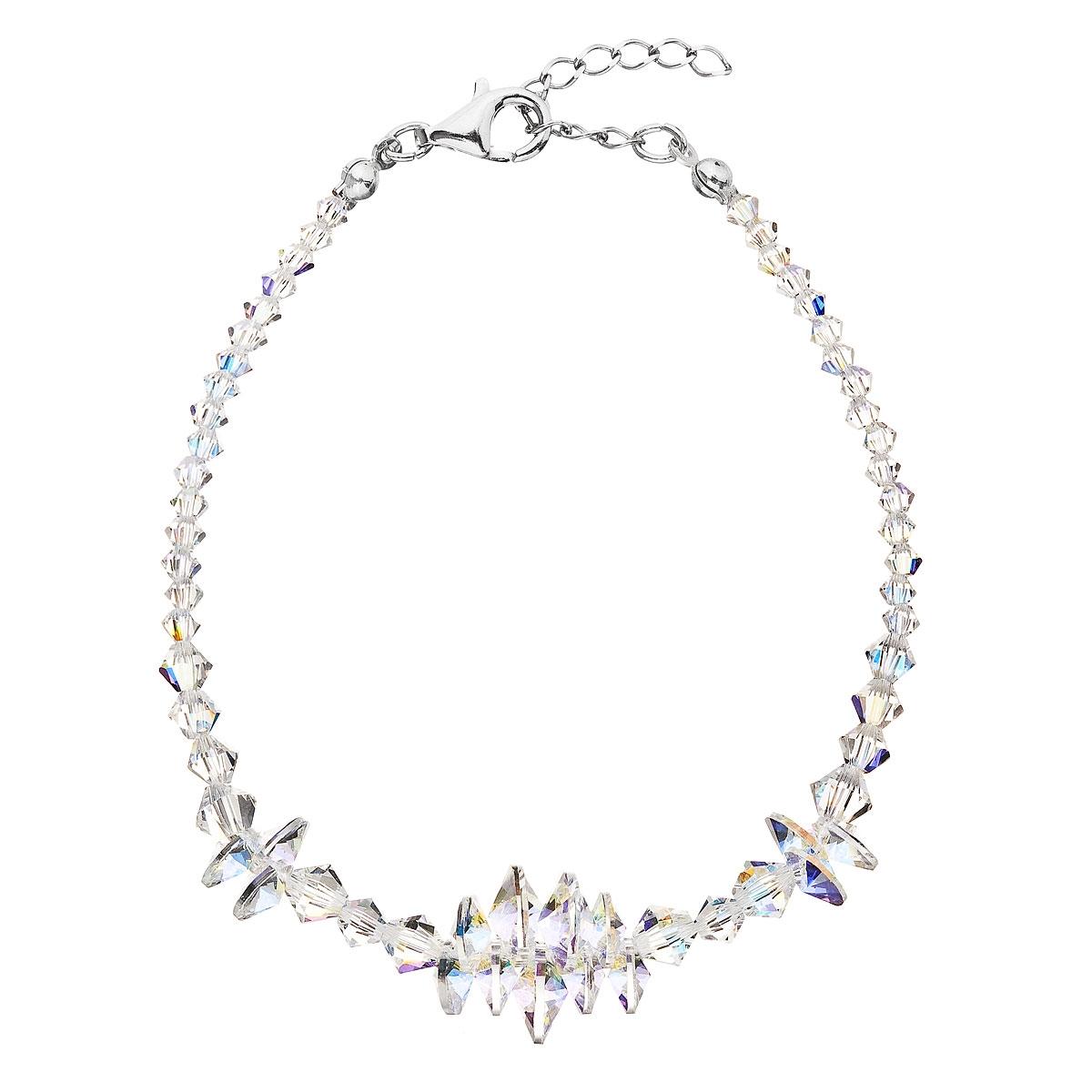 Stříbrný náramek s krystaly Crystals from Swarovski® AB EG7048-AB