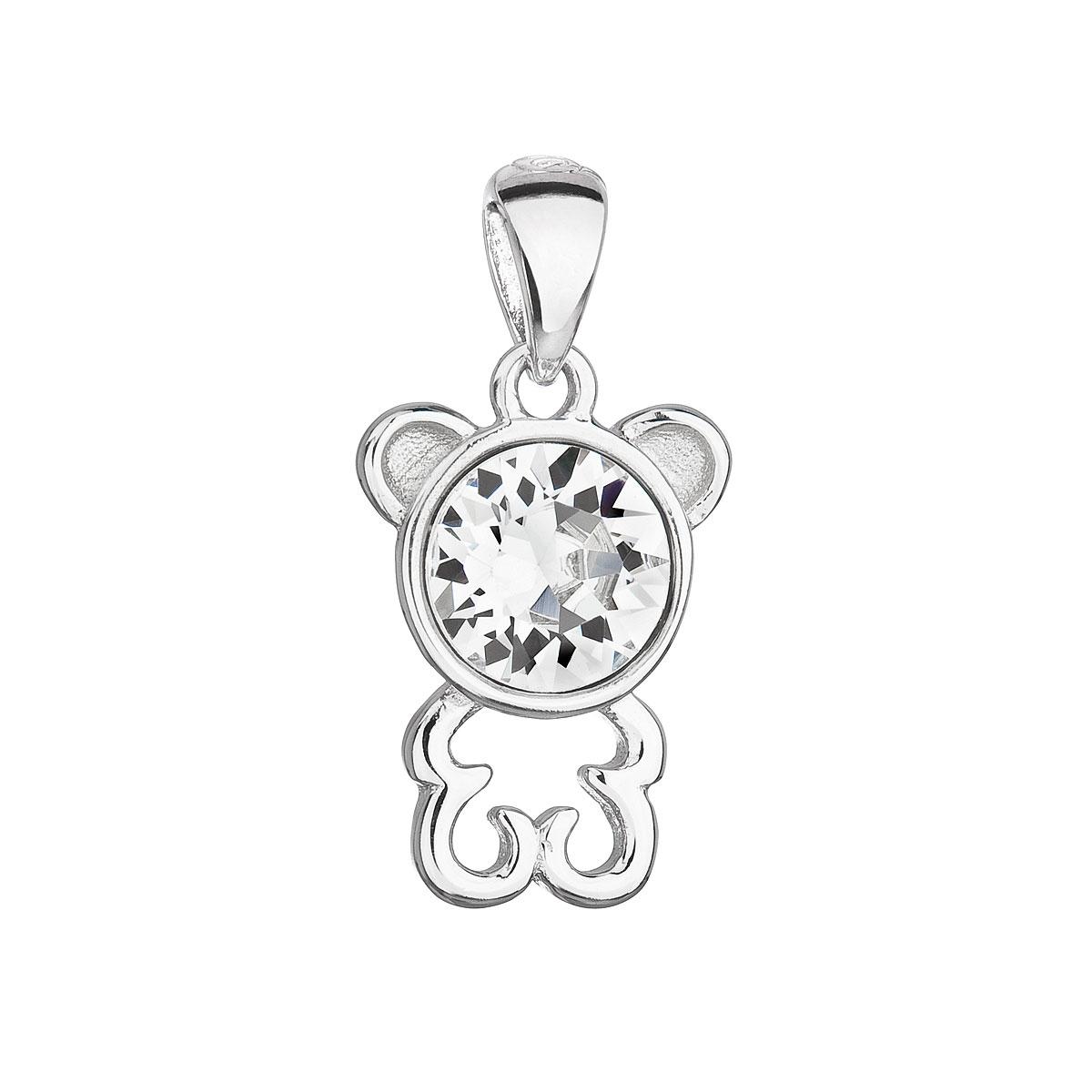 Stříbrný přívěšek medvídek s kamenem Crystals from Swarovski®