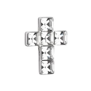 EVOLUTION GROUP CZ Stříbrný přívěšek křížek s krystaly Crystals from Swarovski® Crystal - 34236.1