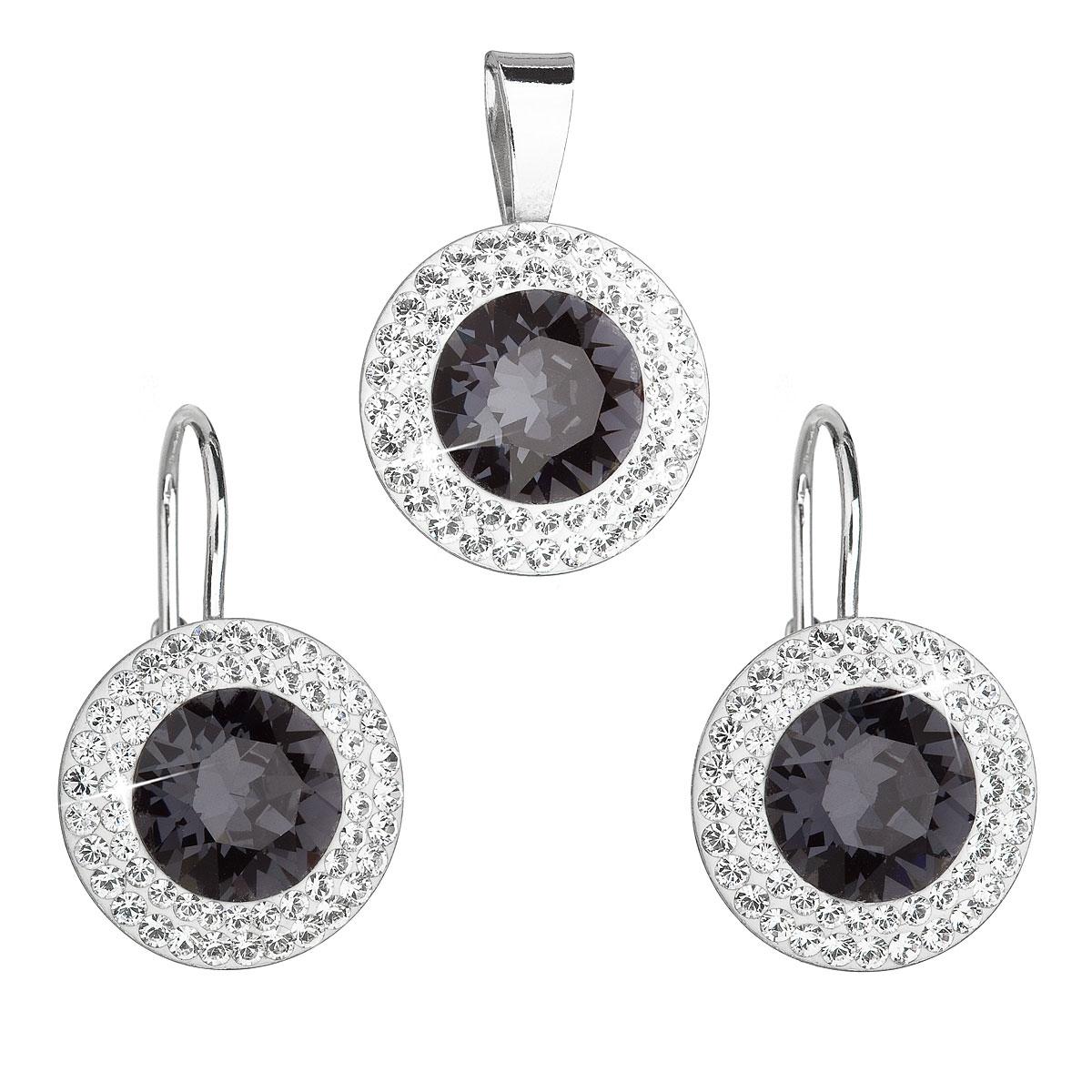 Stříbrná spouprava šperků Crystals from Swarovski® Grey