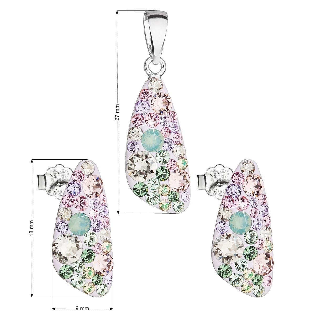 Sada šperkov s kryštálmi Swarovski náušnice a prívesok, Sakura