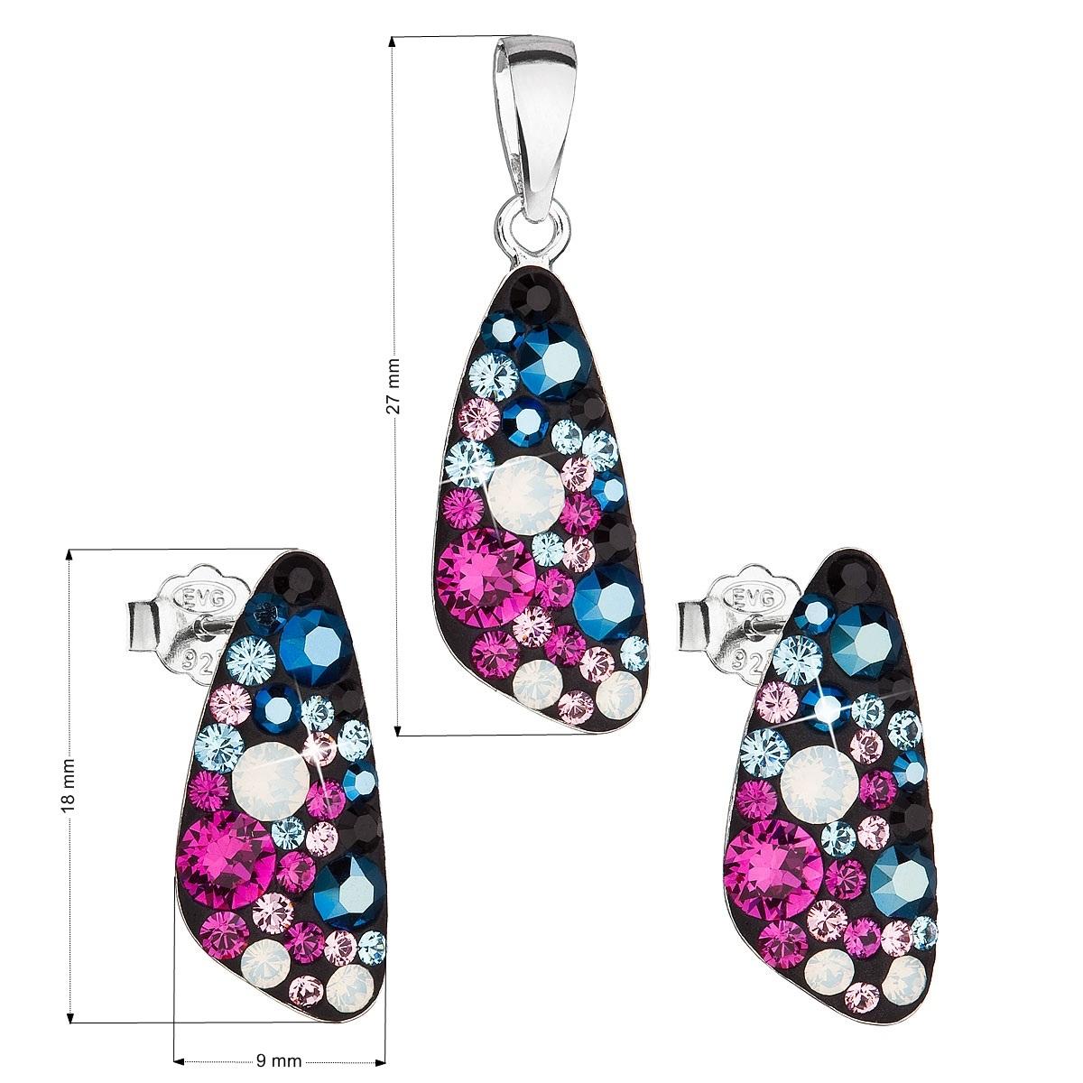 Stříbrná spouprava šperků Crystals from Swarovski® Galaxy
