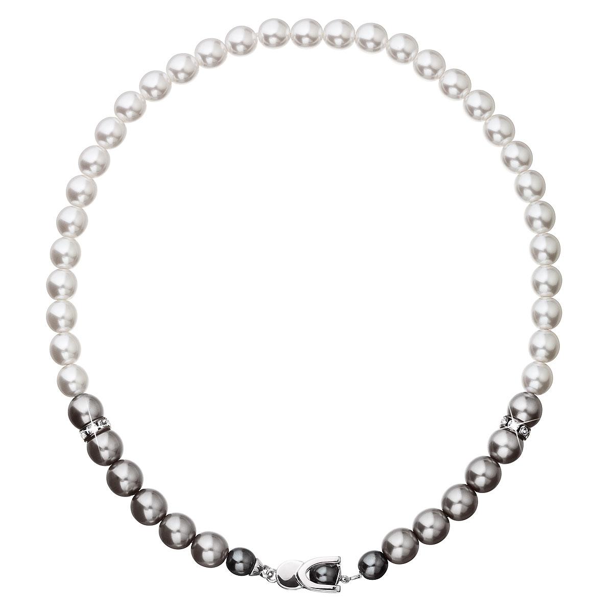 Perlový náhrdelník šedý EG4229