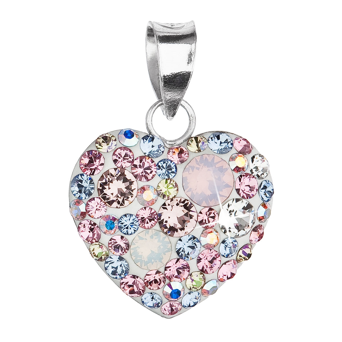 2c435eb8a Strieborný prívesok srdce s kryštálmi Crystals from Swarovski ®, Magic Rose