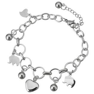 Šperky4U Ocelový náramek se slony - OPA1500