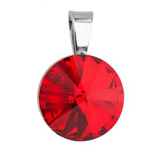 Stříbrný přívěšek rivoli Crystals from Swarovski® Siam 12 mm