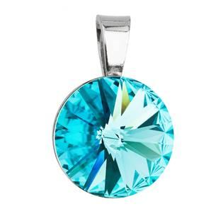 Stříbrný přívěšek rivoli Crystals from Swarovski® Light Turquoise 12 mm