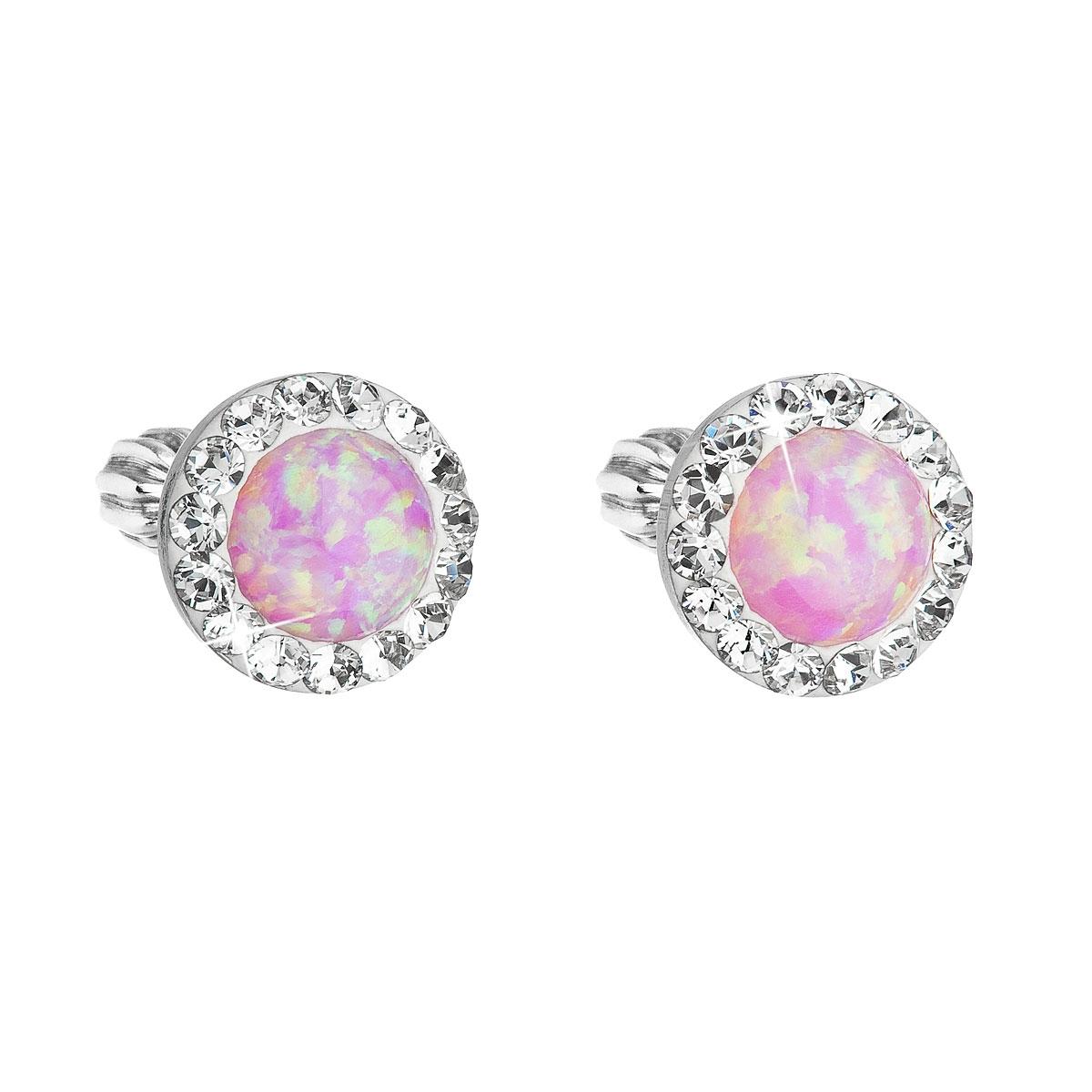 Náušnice s kamínky Crystals from Swarovski® a opály, Rose