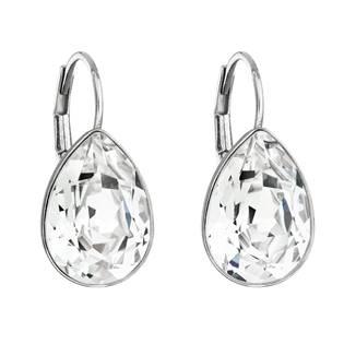 EVOLUTION GROUP CZ Stříbrné náušnice s kapky s kameny Crystals from Swarovski® Crystal - 31231.1 Crystal