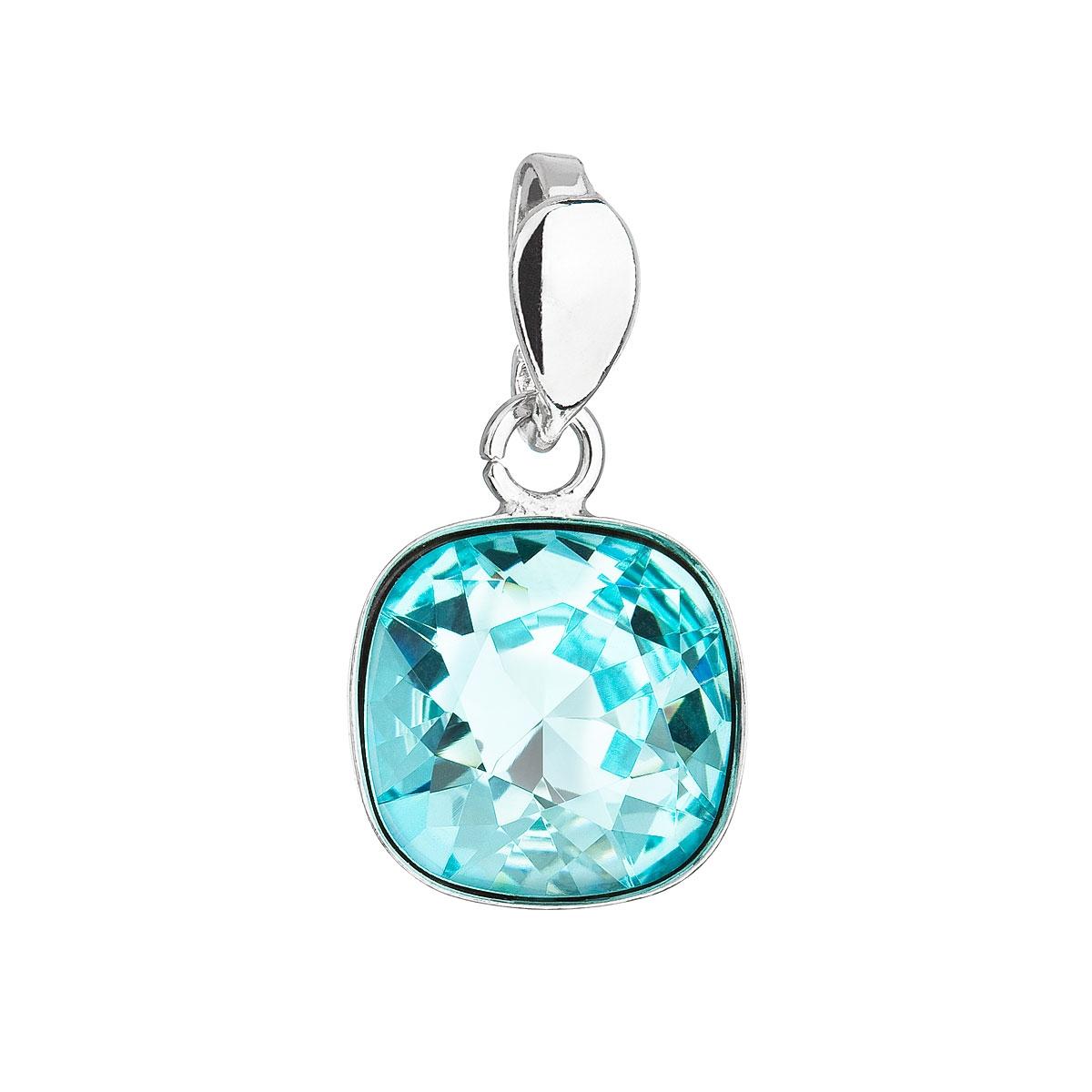 Stříbrný přívěšek Crystals from Swarovski® Light Turquoise
