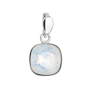 EVOLUTION GROUP CZ Stříbrný přívěšek Crystals from Swarovski® White Opal - 34224.7 White Opal