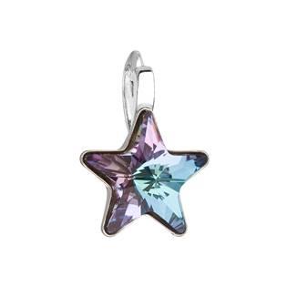 Stříbrný přívěšek hvězda s kamenem Crystals from Swarovski® Vitrail Light
