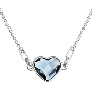 Stříbrný náhrdelník se srdíčkem Crystals from Swarovski® Denim Blue