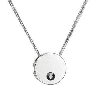 Stříbrný náhrdelník kolečko s Crystals from Swarovski® Hematite