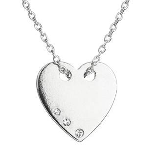 Stříbrný náhrdelník se srdíčkem zdobeným Crystals from Swarovski® Crystal