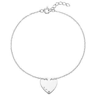 Stříbrný náramek srdce s krystaly Crystals from Swarovski®Crystal