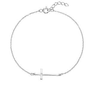 Stříbrný náramek kříž s Crystals from Swarovski®Crystal