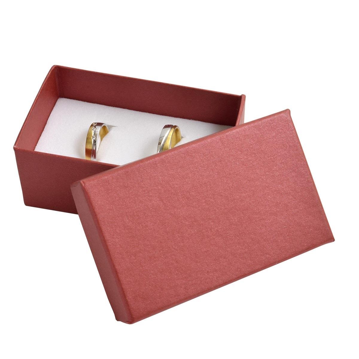 Darčeková krabička na snubné prstene - červená