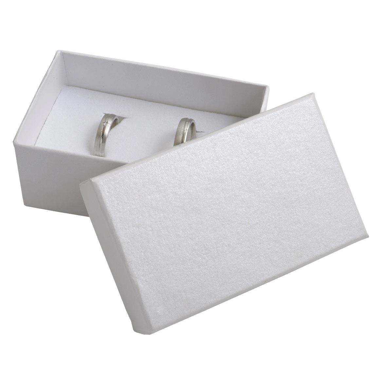 Darčeková krabička na snubné prstene - biela