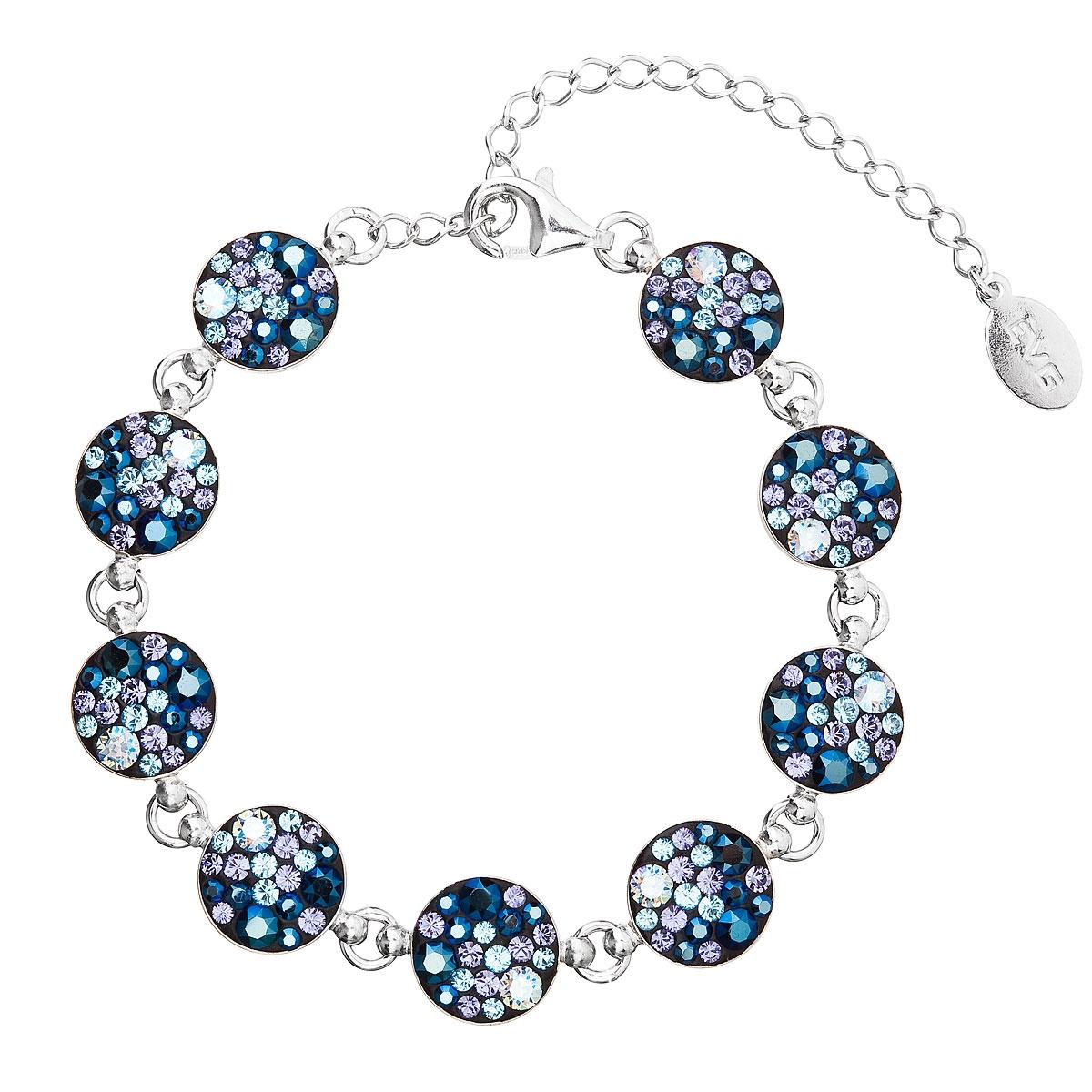 Strieborný náramok s kryštálmi Crystals from Swarovski ® Blue Style dba0ba43f3e