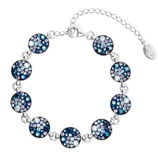 Stříbrný náramek s krystaly Crystals from Swarovski® Blue Style