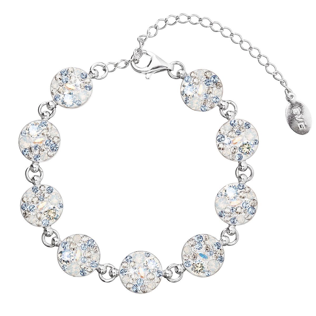Strieborný náramok s kryštálmi Crystals from Swarovski ® Light Sapphire 3f29def5bbf