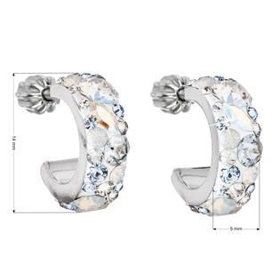 EVOLUTION GROUP CZ Stříbrné náušnice kruhy s krystaly Crystals from Swarovski®, Light Sapphire - 31118.3 Light Sapphire