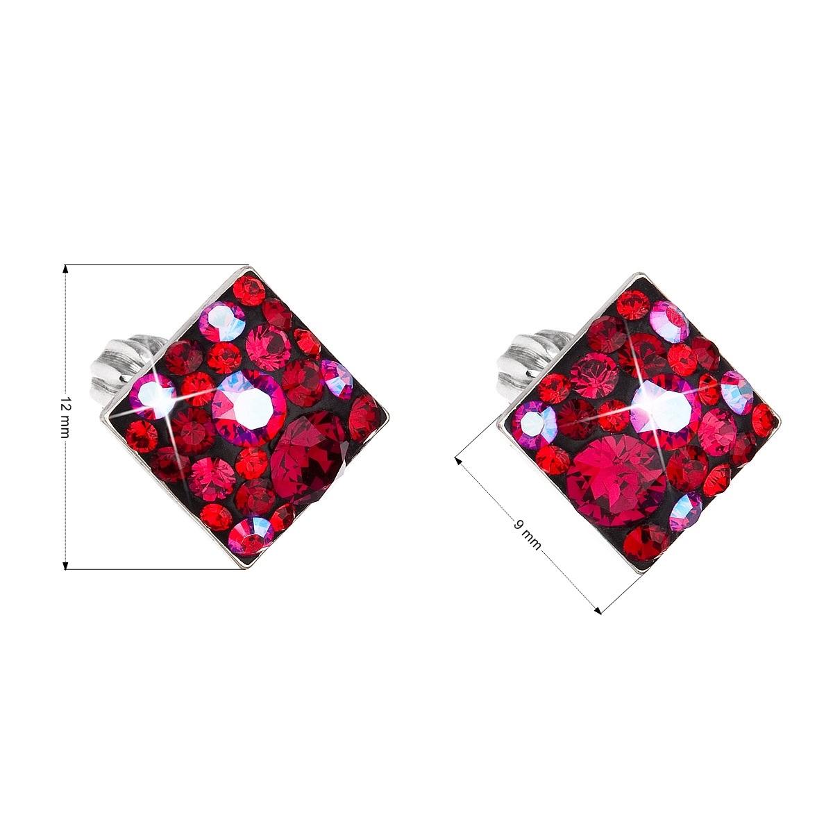 Stříbrné šroubovací náušnice s krystaly Crystals from Swarovski®, Cherry EG2006-CH