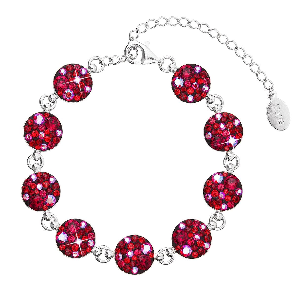 Stříbrný náramek s krystaly Crystals from Swarovski® Cherry EG7004-CH