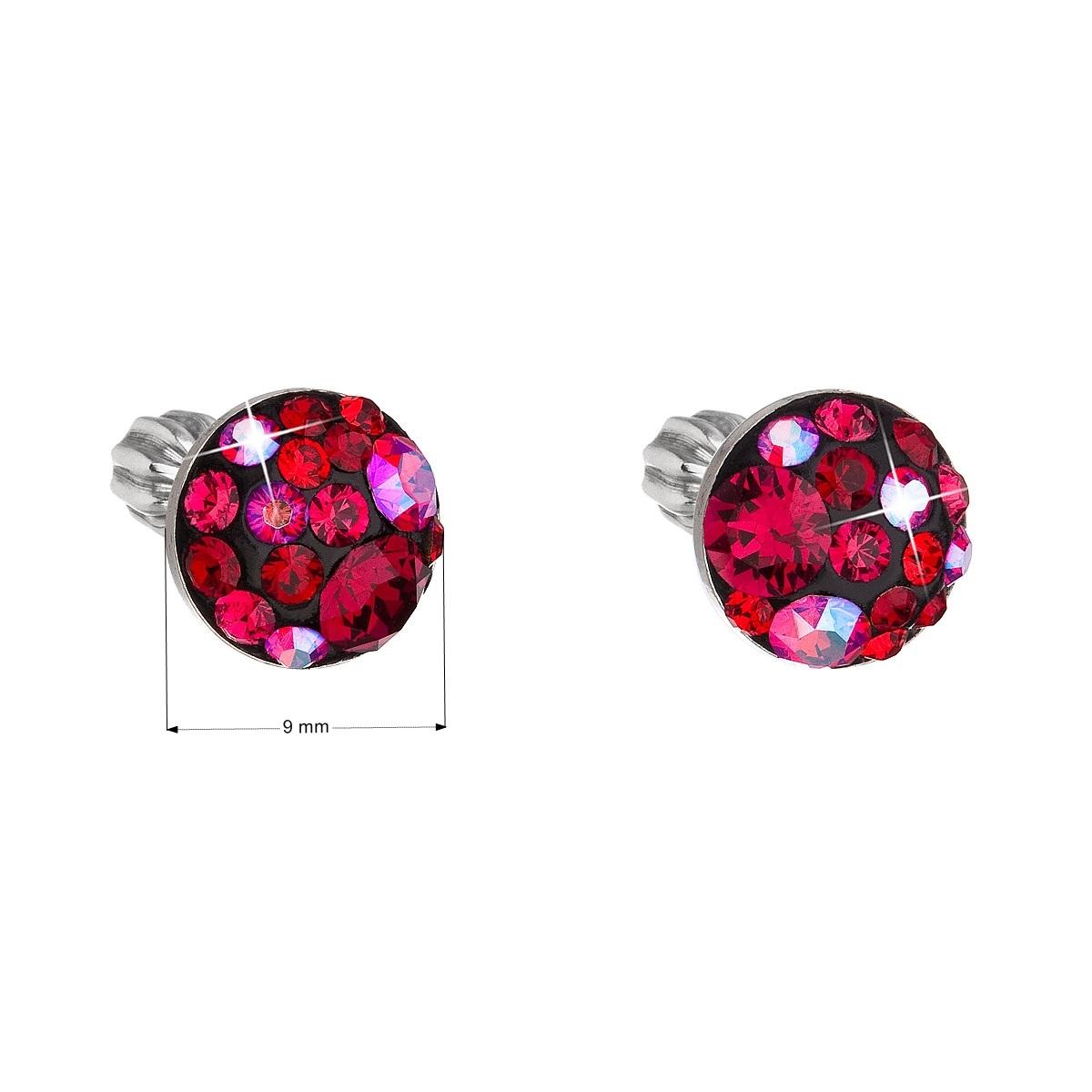 Stříbrné náušnice s krystaly Crystals from Swarovski®, Cherry EG2008-CH