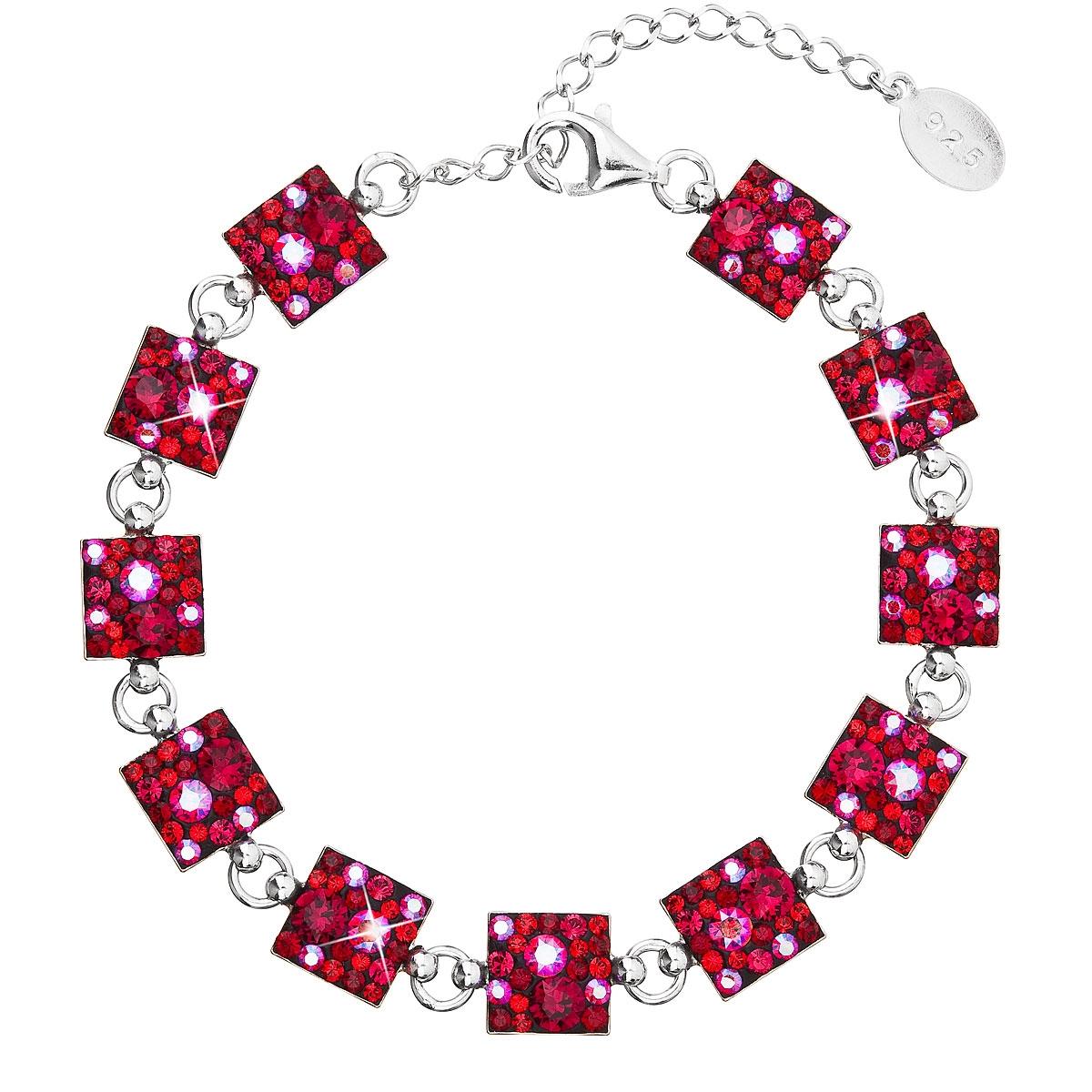 Strieborný náramok s kryštálmi Crystals from Swarovski ® Cherry