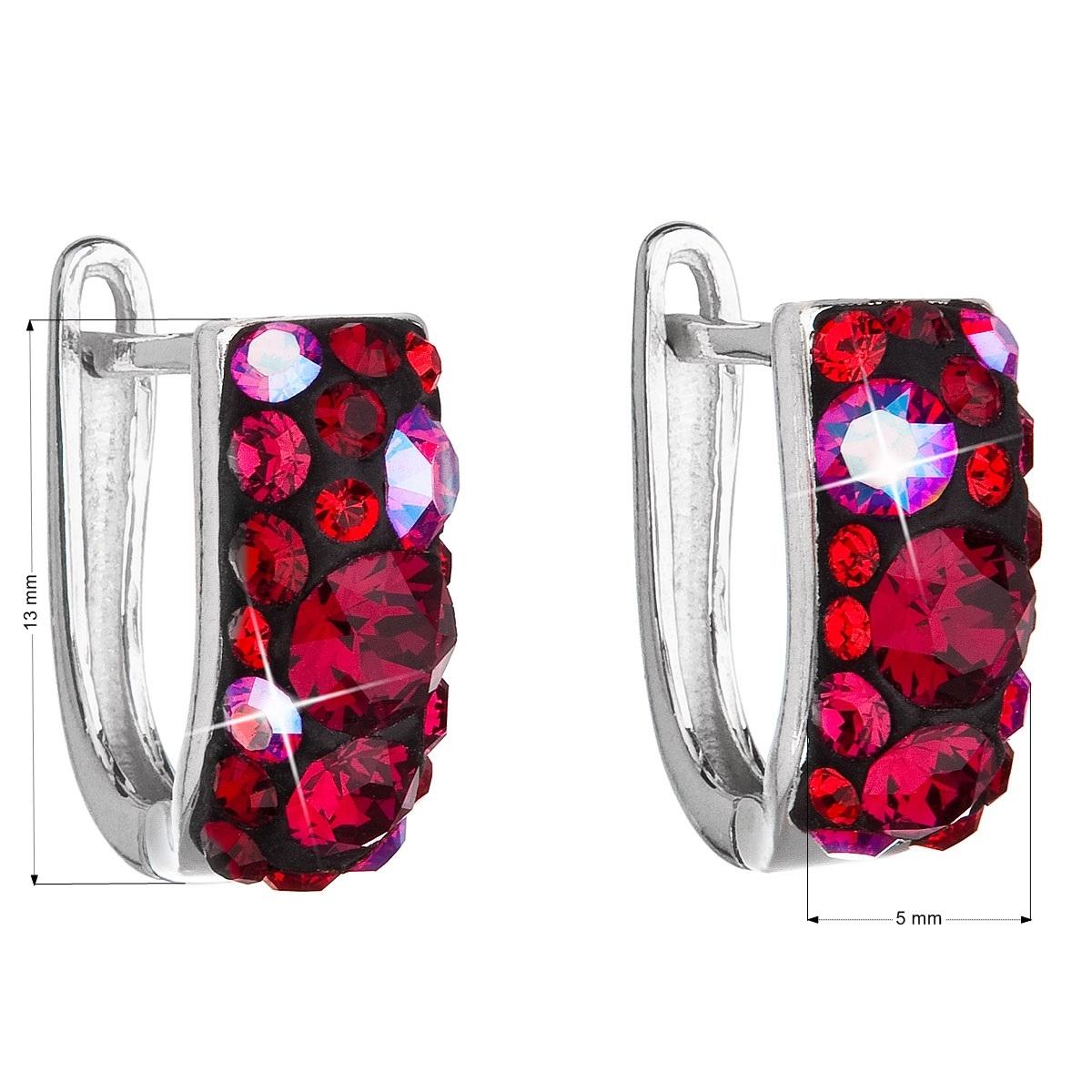 Stříbrné náušnice s krystaly Crystals from Swarovski®, Cherry EG2009-CH