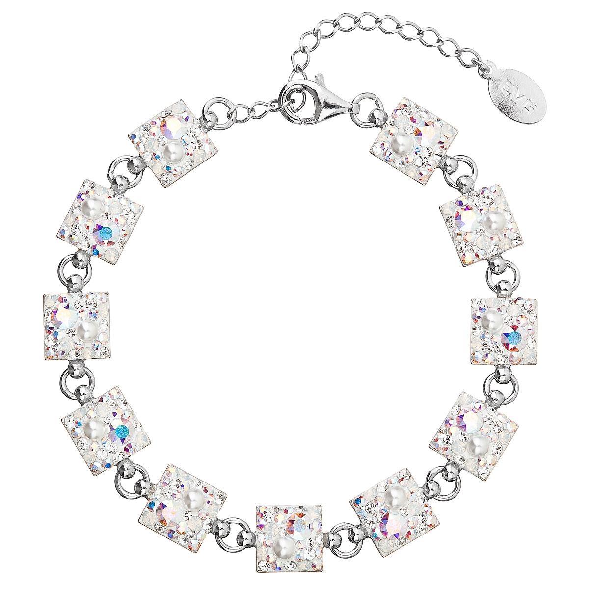 Strieborný náramok s kryštálmi Crystals from Swarovski ® AB