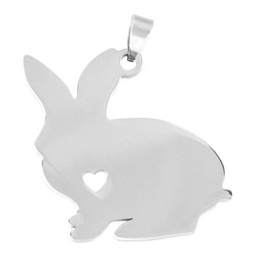 Ocelový přívěšek - králík