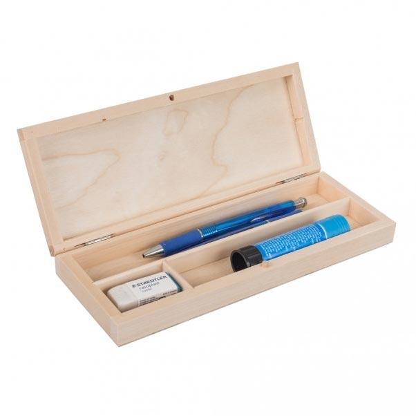 Drevená krabička na písacie potreby - peračník
