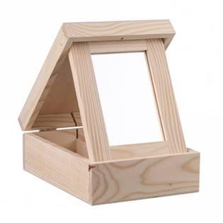 Dřevobox Dřevěná šperkovnice se zrcátkem - KRD28
