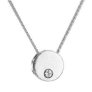 Stříbrný náhrdelník s krystaly Swarovski bílý 32053.1