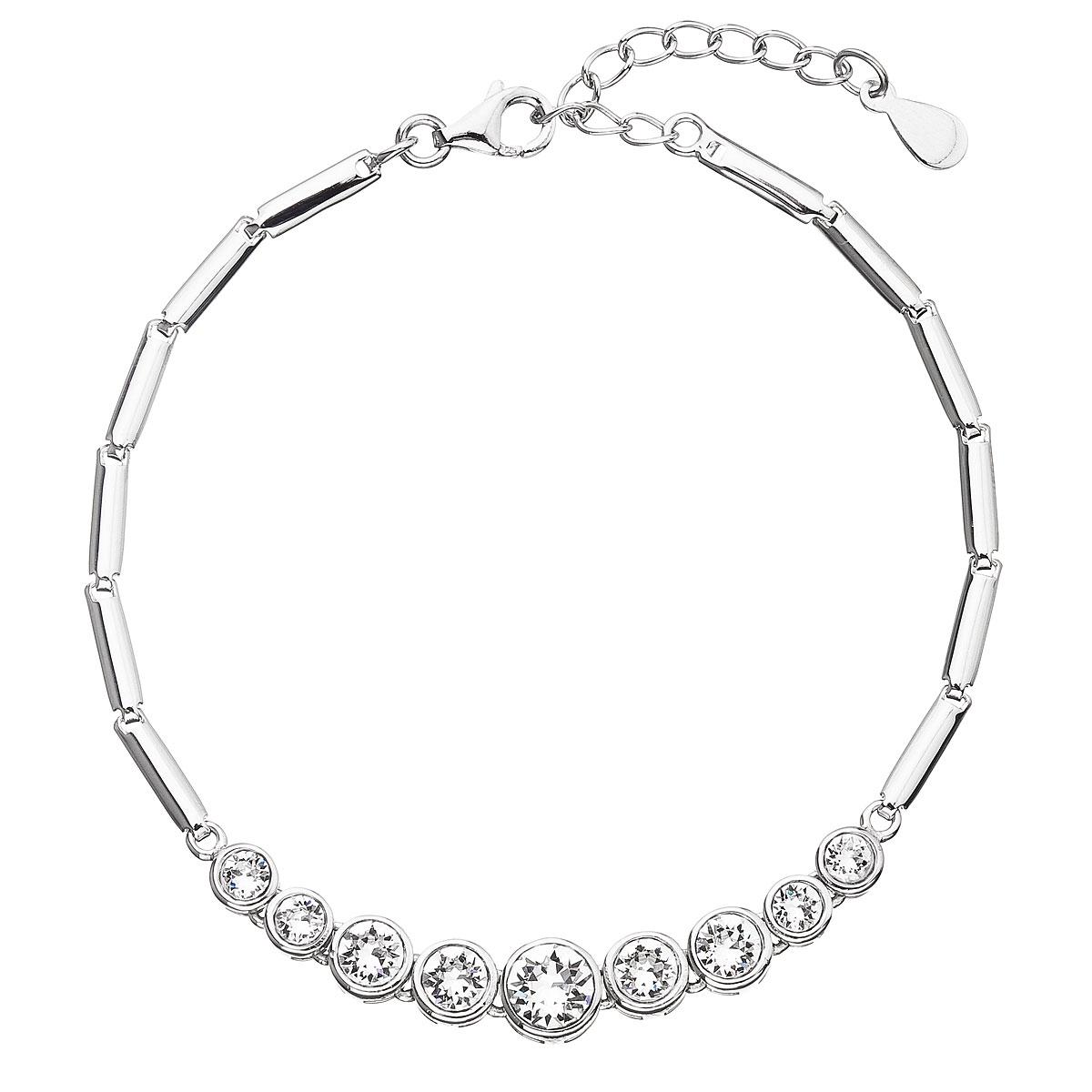 Stříbrný náramek s krystaly Crystals from Swarovski® EG7054