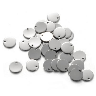 Ocelový přívěšek - mini kolečko 10 mm s otvorem
