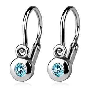 Šperky4U Dětské náušnice stříbrné, tyrkysové zirkony - CS1210-Q