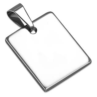 Ocelový přívěšek destička, mini čtvercová destička 18 x 18 mm