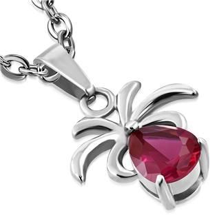 3cf5151bb Ocelový přívěšek - pavouček s červeným kamenem | Šperky a piercing z ...