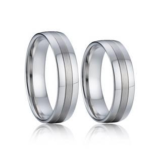 Stříbrný snubní prsten šíře 6 mm AN1041