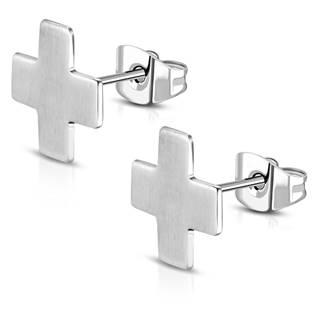 Ocelové náušnice - křížky OPN1015