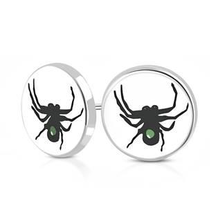 Ocelové náušnice - pavouk