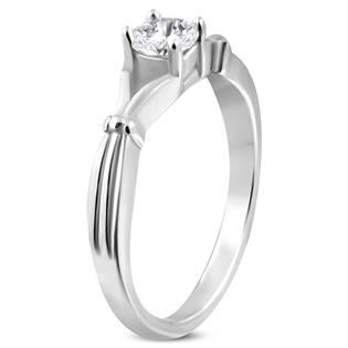 Ocelový prsten se zirkonem OPR1081
