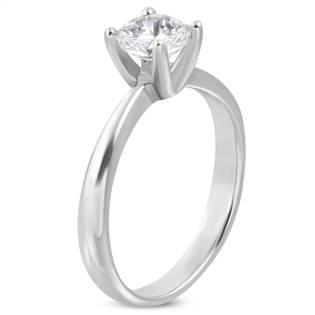 Ocelový prsten se zirkonem OPR1026 vel.60