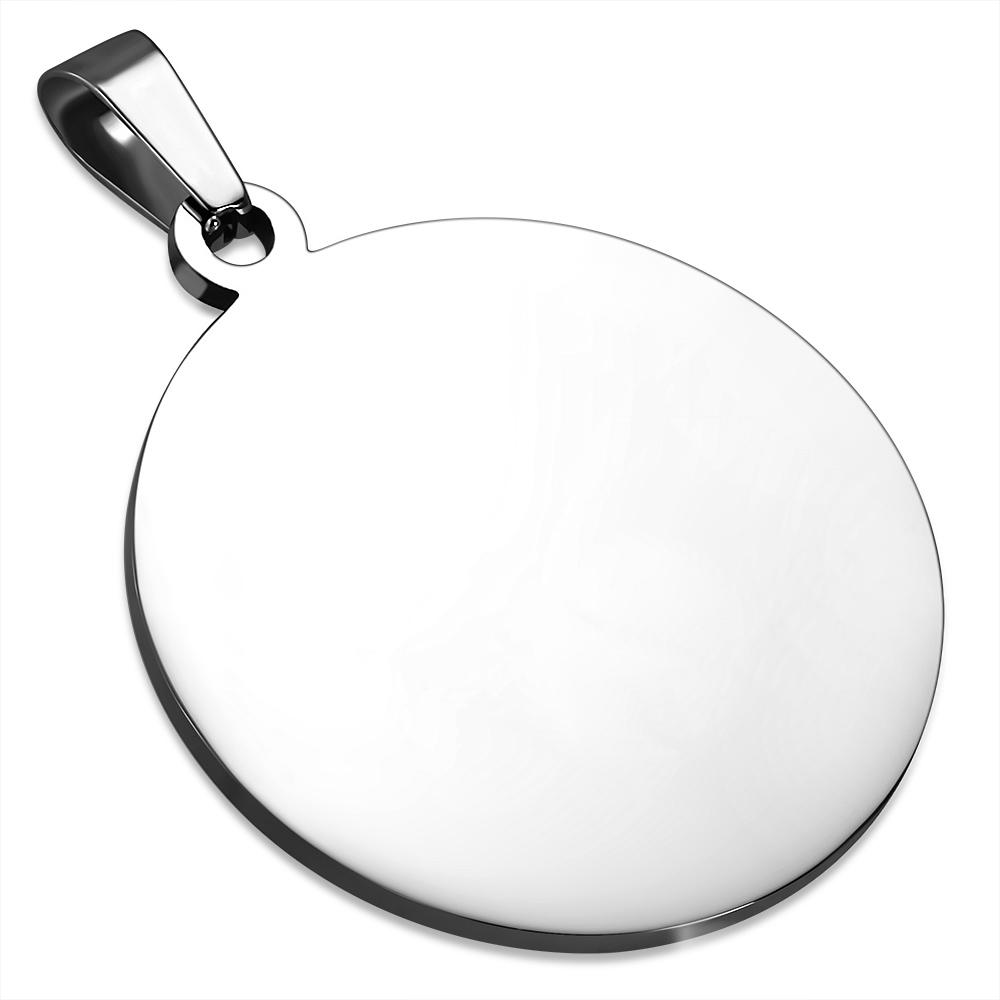 Oceľový prívesok kruh