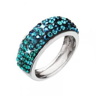 EVOLUTION GROUP CZ Stříbrný prsten s krystaly Crystals from Swarovski®, Magic Green - velikost 56 - 35027.3