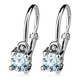 Šperky4U Dětské náušnice stříbrné, Aquamarine - CS1170-Q